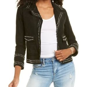 New W/ Tag! Allsaints Evans Studded Suede Jacket